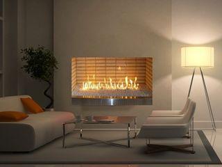 Grupo Cinco Chimeneas Living roomFireplaces & accessories Bricks Beige