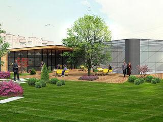 ULUDAĞ KOLEJİ Peyzaj Projelendirme & Landscaping Project konseptDE Peyzaj Fidancılık Tic. Ltd. Şti. Klasik Balkon, Veranda & Teras