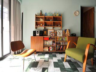 直方設計有限公司 Soggiorno in stile asiatico Marmo
