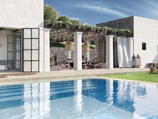 architetto stefano ghiretti Eclectic style pool