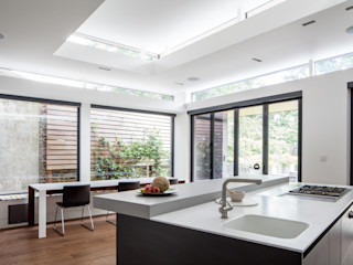 Artists' House Red Squirrel Architects Ltd Dapur built in