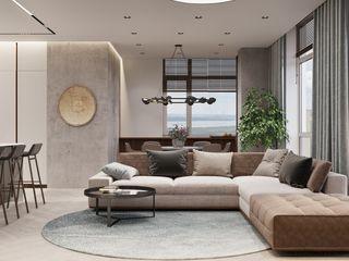 EVA Tobi Architects Living room Beige