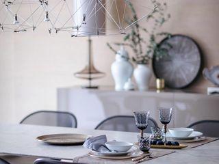 Appartamento per una coppia di edonisti contemporanei MD Creative Lab - Architettura & Design Sala da pranzoAccessori & Decorazioni Canapa / Iuta