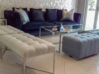 CKW Lifestyle Associates PTY Ltd WohnzimmerHocker und Stühle Textil Beige