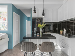 復古歐風X美式鄉村 層層室內裝修設計有限公司 廚房