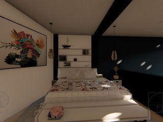 GóMEZ arquitectos Industrial style bedroom