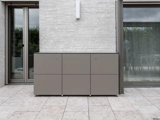 design@garten - Alfred Hart - Design Gartenhaus und Balkonschraenke aus Augsburg Balcon, Veranda & TerrasseMobilier Bois composite