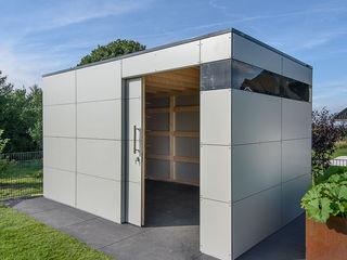 design@garten - Alfred Hart - Design Gartenhaus und Balkonschraenke aus Augsburg JardinAbris de jardin & serres Bois composite Gris
