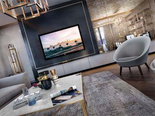 ANTE MİMARLIK Modern living room