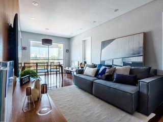 Macro Arquitetos Living room Wood
