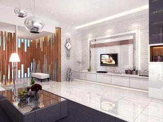 Rumah Tinggal Kemang iwan 3Darc Ruang Keluarga Modern