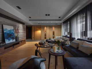 宸域空間設計有限公司 Salas de estar modernas