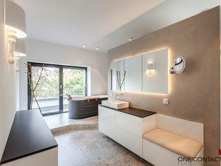 ONE!CONTACT - Planungsbüro GmbH Baños modernos Cerámico Gris