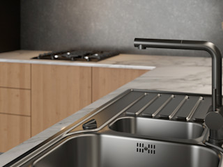 Dündar Design - Mimari Görselleştirme Cocinas de estilo moderno