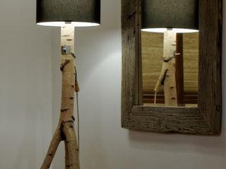 Floor lamp made of birch branches Meble Autorskie Jurkowski Living roomLighting Wood White