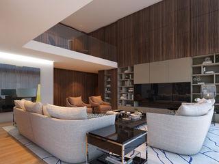 CASA MARQUES INTERIORES Living roomShelves Wood