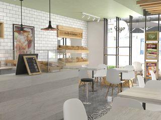 Roque_industrial_design Gastronomía de estilo moderno Madera Verde
