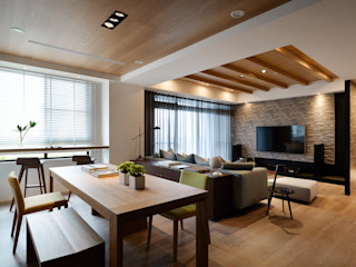 Fertility Design 豐聚空間設計 Modern living room Solid Wood Wood effect