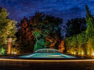 Moreno Licht mit Effekt - Lichtplaner Piscines privées Bois Effet bois