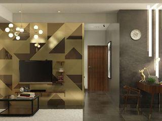 LUXURIOUS MASCULINE APARTMENT @ SEASON CITY, WEST JAKARTA PT. Dekorasi Hunian Indonesia (DHI) Ruang Keluarga Modern
