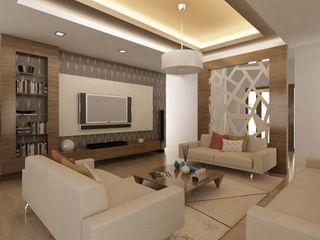 ANTE MİMARLIK Modern living room Beige