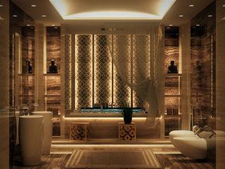 كاسل للإستشارات الهندسية وأعمال الديكور والتشطيبات العامة BathroomLighting MDF Beige