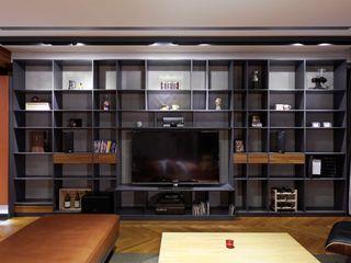 直方設計有限公司 Pareti & Pavimenti in stile industriale Blu