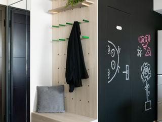邑田空間設計 Eclectic corridor, hallway & stairs