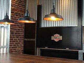 Lámparas Galponeras Colgantes Iluminación Estilo Industrial Deco Loft Lamparas Vintage Vieja Eddie LivingsIluminación Aluminio/Cinc Negro