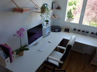 CS Déco Design Modern study/office Wood White