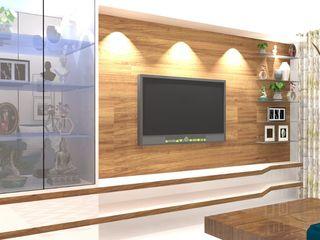 Honeybee Interior Designers Ruang Keluarga Gaya Asia