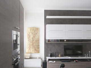 Appartamento in collaborazione con il Designer Matteo Storchio Studio di Architettura IATTONI Soggiorno moderno