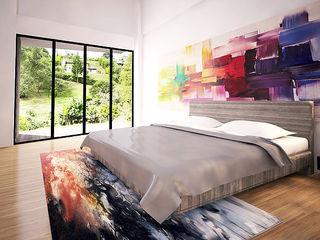 Hincapie Idarraga Estudio Small bedroom Concrete Multicolored