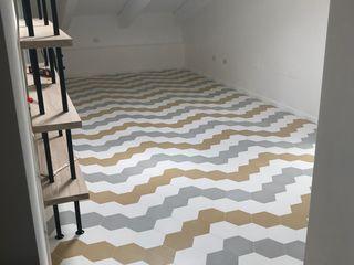 Camera da letto SS Romano pavimenti Camera da letto moderna Cemento Bianco
