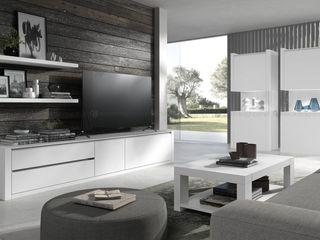 Decordesign Interiores ВітальняПідставки для телевізорів та шафи Білий