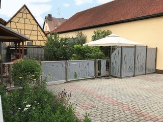 Sichtschutz Edelstahl Atelier Crouse: Vorgarten Metall Metallic/Silber