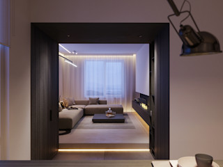 Suiten7 Minimalist Oturma Odası Kahverengi