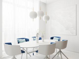Suiten7 Minimalist Yemek Odası Beyaz