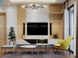 THIẾT KẾ NỘI THẤT CHUNG CƯ 73M2 – ANH TIẾN THỦ DẦU MỘT BÌNH DƯƠNG Công ty Cổ Phần Nội Thất Mạnh Hệ Phòng khách White