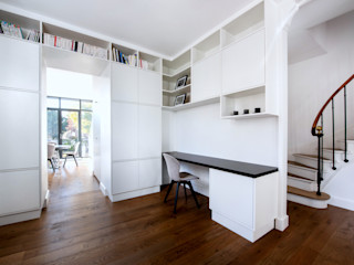 Anne Lapointe Chila Modern Study Room and Home Office White