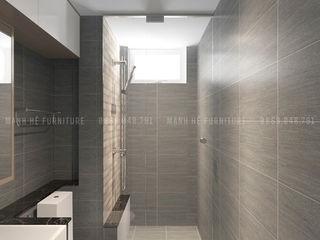 THIẾT KẾ CĂN HỘ CHỊ PHƯƠNG 120M2 - 3 PHÒNG NGỦ - CHUNG CƯ KRIS VUE QUẬN 2, HCM Công ty Cổ Phần Nội Thất Mạnh Hệ Phòng tắm phong cách hiện đại Grey