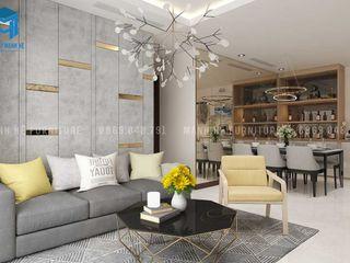 THIẾT KẾ CĂN HỘ CAO CẤP CANTAVIL – 110M2 3 PHÒNG NGỦ PHƯỜNG AN PHÚ QUẬN 2 Công ty Cổ Phần Nội Thất Mạnh Hệ Phòng khách White