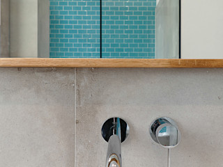 Lena Klanten Architektin Modern Bathroom Ceramic Turquoise