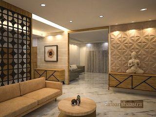 Triplex Residence Urban Shaastra Modern living room