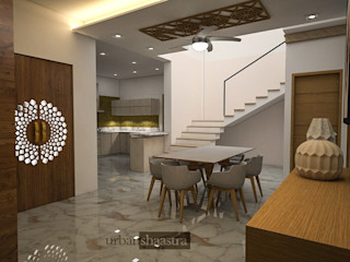 Triplex Residence Urban Shaastra Modern dining room