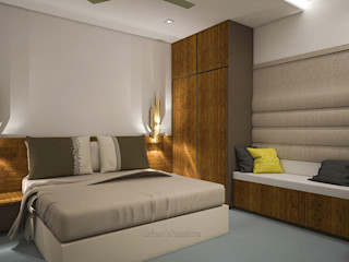 Triplex Residence Urban Shaastra Modern style bedroom
