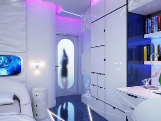 Architoria 3D Small bedroom Бетон Білий