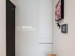 台中 劉公館 日光寓二 築本國際設計有限公司 斯堪的納維亞風格的走廊,走廊和樓梯