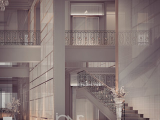 Villa Interior Design – Entrance Lobby and Foyer Design Ideas IONS DESIGN Minimalist corridor, hallway & stairs White
