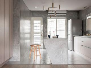 Dinning Area 湜湜空間設計 餐廳 水泥 Grey